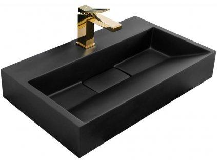 REA - Umyvadlo na desku Goya 60 černá matná REA-U8779