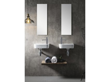 Bruckner - GERDA keramické umývátko 37x14x24,5cm, pravé 201.213.4
