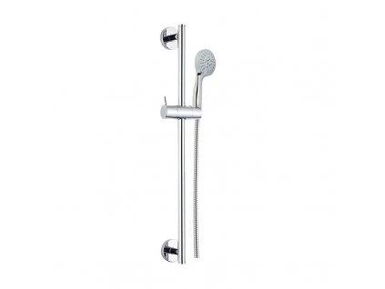 MEREO - Sprchová souprava, pětipolohová sprcha, dvouzámková nerez hadice, stavitelný držák, plast/chrom CB900R
