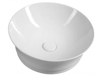SAPHO - IDEA keramické umyvadlo průměr 42 cm, na desku, bez přepadu WH103