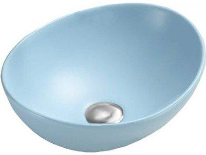 MEXEN - Elza umyvadlo na desku 40x33 cm modrá mat 21014049
