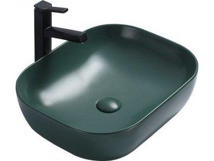 MEXEN - Rosa umyvadlo na desku 50x40 cm tmavě zelené mat 21095047