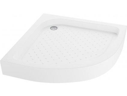 MEXEN - Sprchová vanička čtvrtkruh 90x90 cm, bílá 47109090