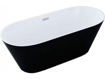 MEXEN - Flavia volněstojící vana 150x75 cm bílá / černá 54031507575