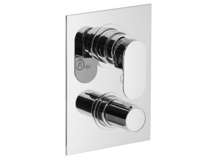 SAPHO - GLAM podomítková sprchová termostatická baterie, 3 výstupy, chrom GL62169