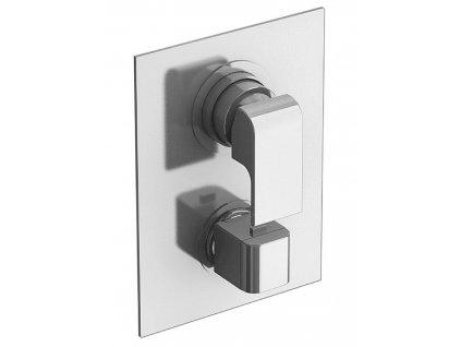 SAPHO - AQUARAMA podomítková sprchová termostatická baterie, 3 výstupy, chrom AM64169