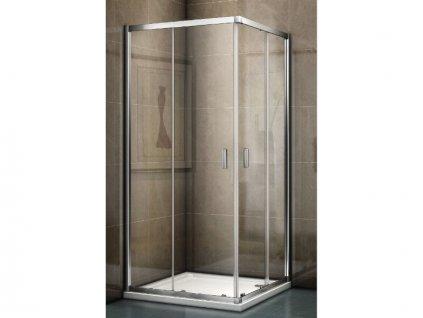 Riho Hamar 2.0 čtvercový sprchový kout 100x100x200 cm, chrom, Riho-Shield, čiré sklo (GR96200)