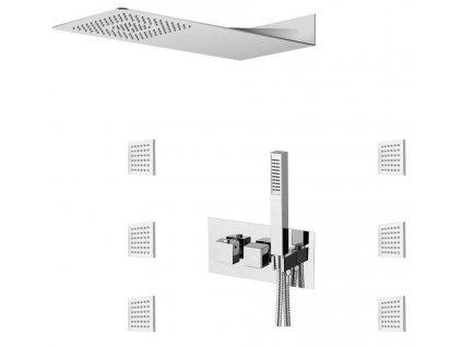 SAPHO - LATUS podomítkový sprchový set s termostatickou baterií vč. sprchy, 3 výstupy, chrom 1102-43-01