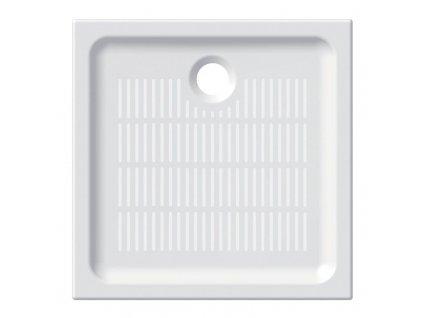 MEREO - Čtvercová sprchová vanička, 90x90x6,5 cm, keramická CV34X