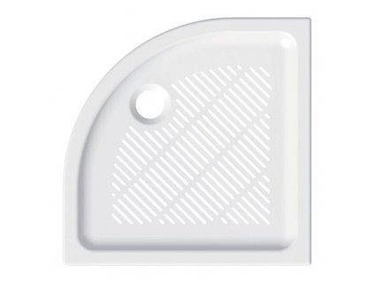 MEREO - Čtvrtkruhová sprchová vanička, 90x90x6,5 cm, R550, keramická CV04X