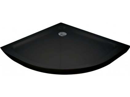 MEXEN - Sprchová vanička čtvrtkruh 90x90 cm černá 41709090