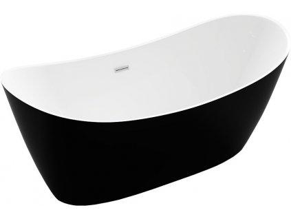Montana volně stojící vana 150 x 75 cm bílá/černá 52011507575