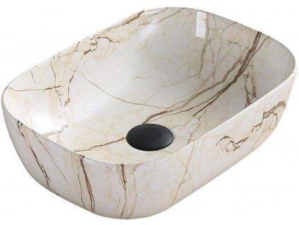 MEXEN - Rita umyvadlo na desku 45 x 32 cm béžové kámen 21084592