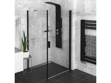 POLYSAN - Zoom Line Black čtvercový sprchový kout 800x800mm L/P varianta ZL1280BZL3280B