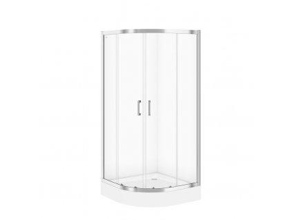 CERSANIT - Sprchový kout BASIC čtvrtkruh 90x185, posuv, čiré sklo S158-005