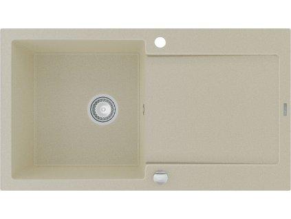MEXEN - Leo granitový dřez s odkapávačem 900x500 mm, béžová 6501901010-69