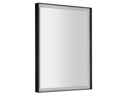 SAPHO - SORT LED podsvícené zrcadlo 60x80cm, matná černá ST080
