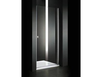 Aquatek - Glass B1 65 sprchové dveře do niky jednokřídlé 61-65cm, barva rámu chrom, výplň sklo - matné GLASSB165-177