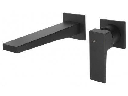SAPHO - DIMY podomítková dvouprvková umyvadlová baterie, černá mat DM018BL