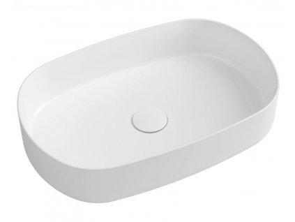 SAPHO - INFINITY OVAL keramické umyvadlo na desku, 55x36 cm, bílá 10NF65055