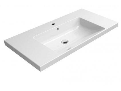 GSI - NORM keramické umyvadlo 100x18x50 cm, bílá ExtraGlaze 8633111