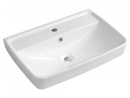 AQUALINE - DURU keramické umyvadlo 60x40 cm, bílá TU0351