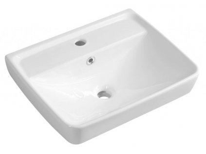 AQUALINE - DURU keramické umyvadlo 50x40 cm, bílá TU0350