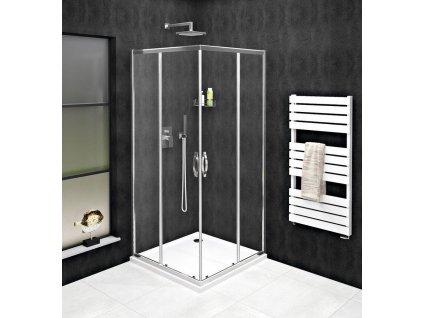 GELCO - SIGMA SIMPLY čtvercový sprchový kout 800x800 mm, rohový vstup, čiré sklo GS2180GS2180