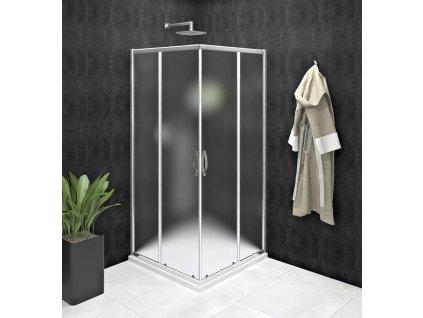 GELCO - SIGMA SIMPLY čtvercový sprchový kout 1000x1000 mm, rohový vstup, Brick sklo GS2410GS2410