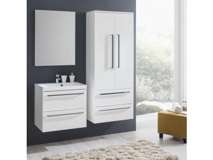 MEREO - Bino koupelnová skříňka závěsná, horní, levá, bílá/bílá CN665