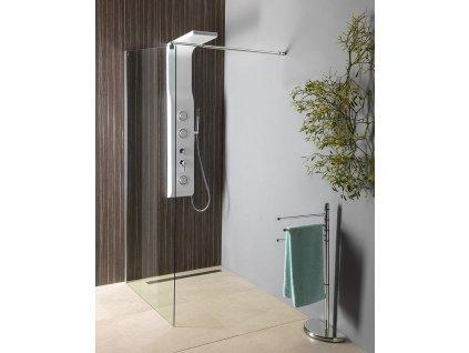 AQUALINE - WALK-IN zástěna jednodílná k instalaci na zeď, 700x1900 mm, sklo čiré WI071