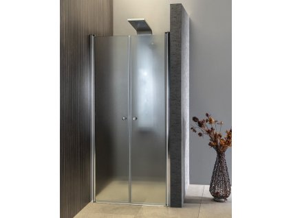 AQUALINE - PILOT otočné sprchové dveře dvojkřídlé 900mm PT092