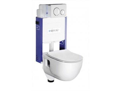 SAPHO - WC SADA závěsné WC Brilla s nádržkou a tlačítkem Geberit, pro zazdění WC-SADA-14