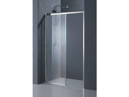 HOPA - Sprchové dveře ESTRELA - BARVA rámu - Chrom/Leštěný hliník (ALU), Rozměr A - 150 cm, Směr zavírání - Pravé (DX), Výplň - Čiré bezpečnostní sklo - 6 mm BCESTR15CCP