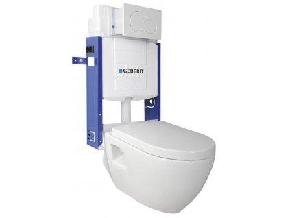 AQUALINE - WC SADA závěsné WC Nera s nádržkou a tlačítkem Geberit, pro zazdění WC-SADA-17