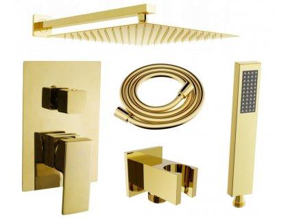 MEXEN/S - Uno DR02 sprchová sestava podomítková, zlatá 71435DR02-50