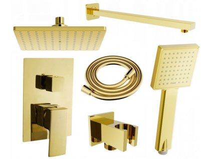MEXEN/S - Uno DR45 sprchová sestava podomítková, zlatá 71435DR45-50