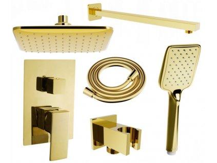 MEXEN/S - Uno DR62 sprchová sestava podomítková, zlatá 71435DR62-50