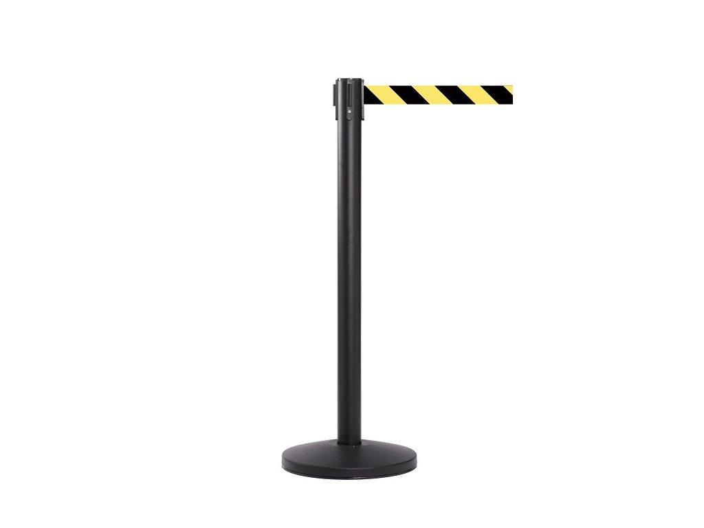 QueueMaster 550 Black, Yellow Black Diagonal Belt