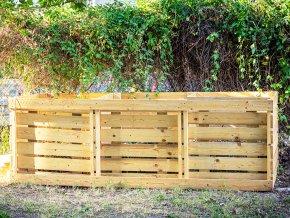 Bodrý kompostér tříkomorový