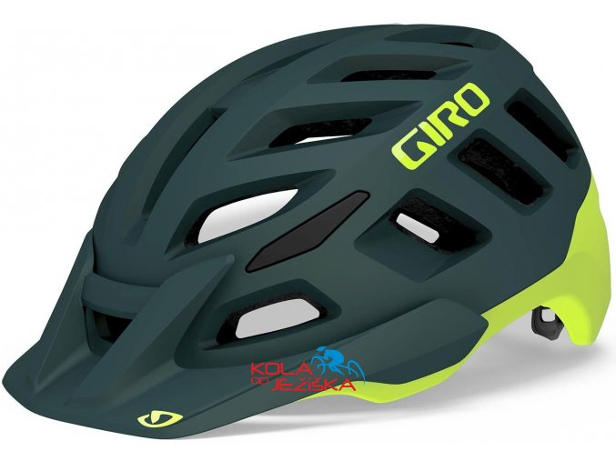 přilba Giro Radix MIPS 2020 Matte True Spruce/Citron, velikost L