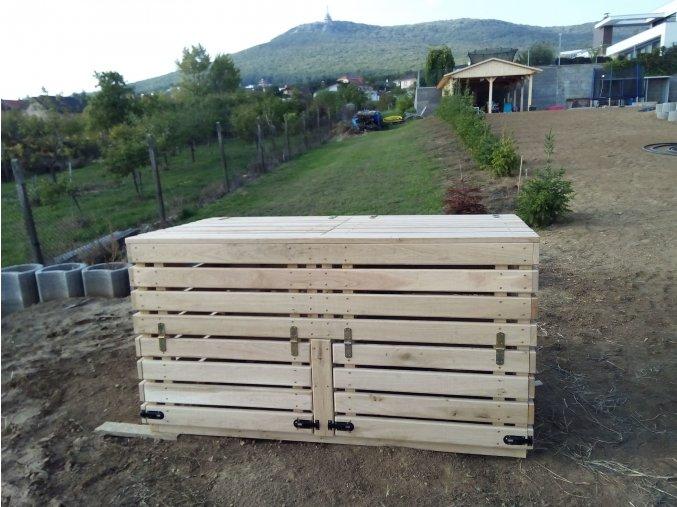 Drevený kompostér z dubového dreva  NOVINKA ROKU 2020