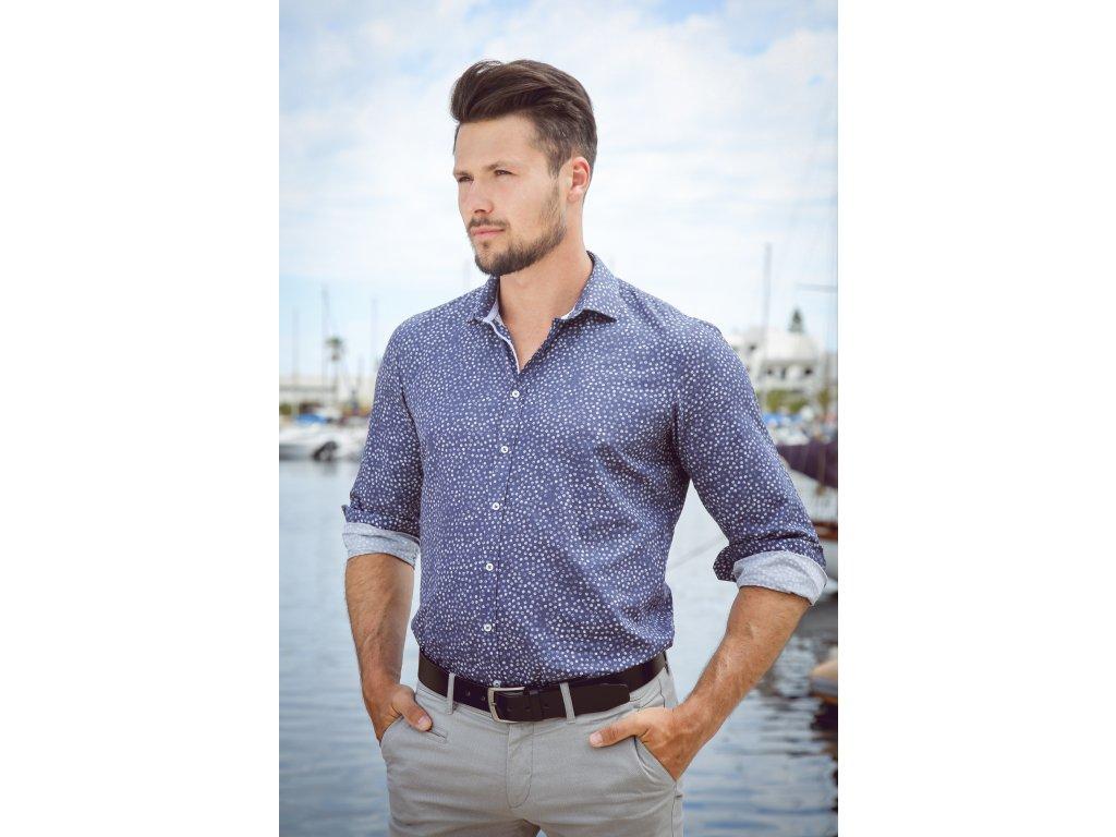 Pánská bavlněná vzorovaná košile