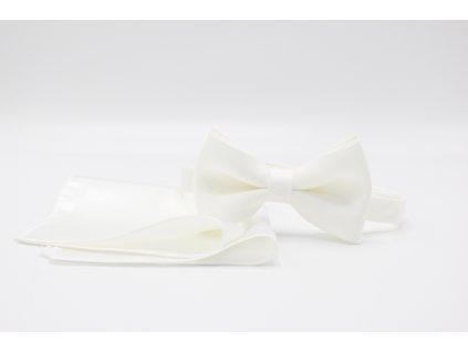 Bílý motýlek s kapesníčkem 3E04/1 04
