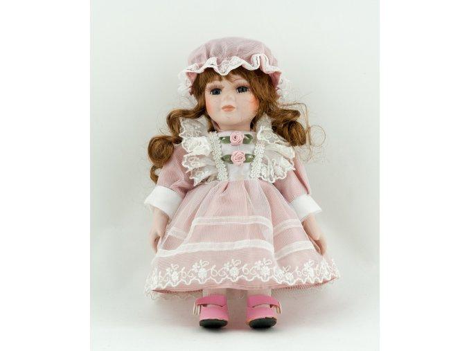 Panenka v růžových šatech