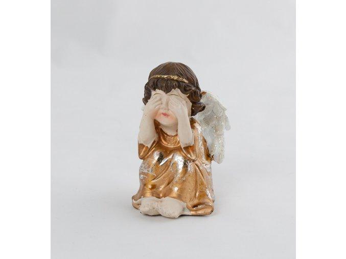 Andělíček zlatý sedící