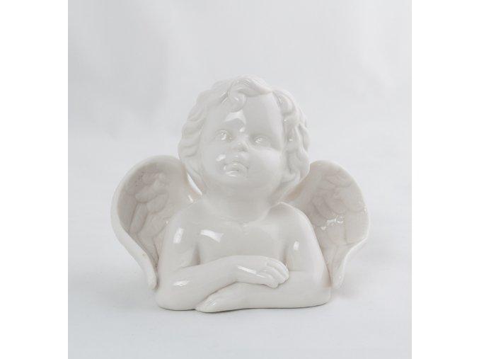 Anděl busta porcelán