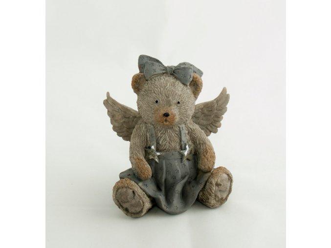 Anděl medvídek v sukénce
