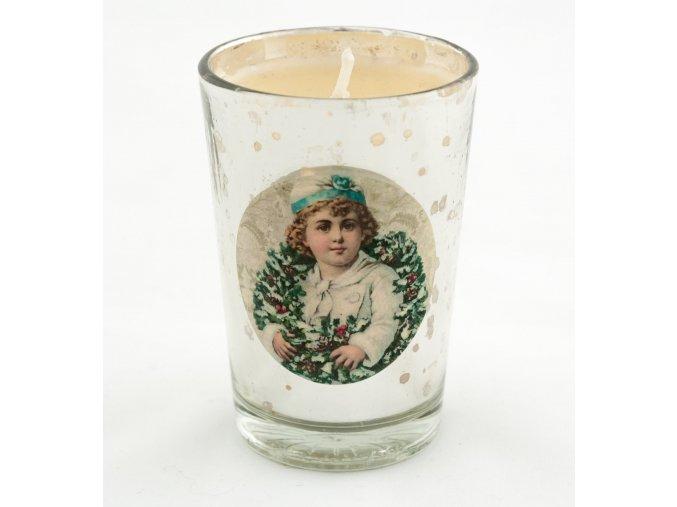 Svícen svíčka viktoriánský motiv