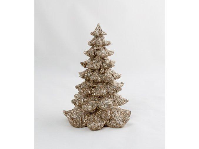 Vánoční dekorační stromek zlatostříbrný